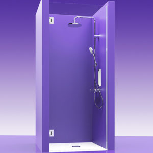 Puertas de ducha de cristal con bisagras de acero