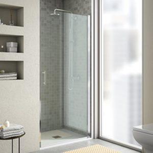 mampara de ducha puerta abatible de cristal