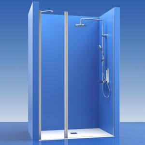 Puertas de ducha con fijo de cristal