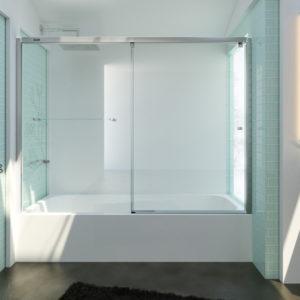 mampara para bañera duscholux evolution plus 1 puerta corredera y 1 fijo sin guia inferior
