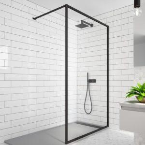 fijo de ducha enmarcado