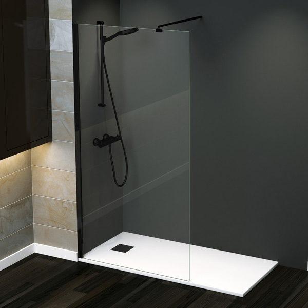 Fijo de ducha de cristal para platos de ducha de entrega inmediata