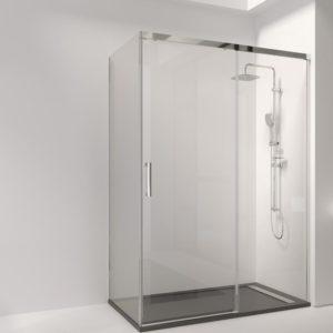 mampara de ducha con lateral fijo