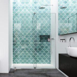 Mampara de ducha corredera sin marco superior