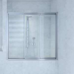 mampara bañera 3 puertas