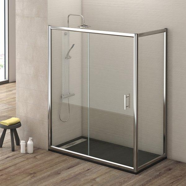 mampara de ducha corredera con lateral barata