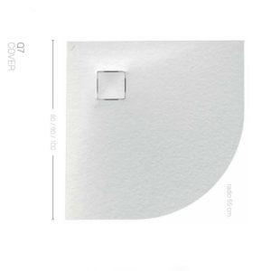 Plato de ducha angular de resina Malenke Piedra Q7