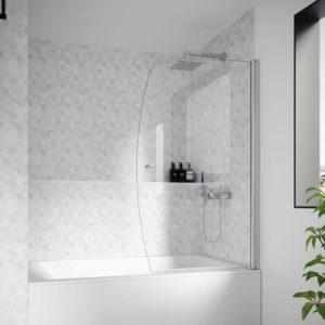 mampara de bañera de 1 hoja batiente para bañera