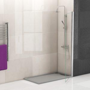 mampara de ducha puerta abatible de cristal barata