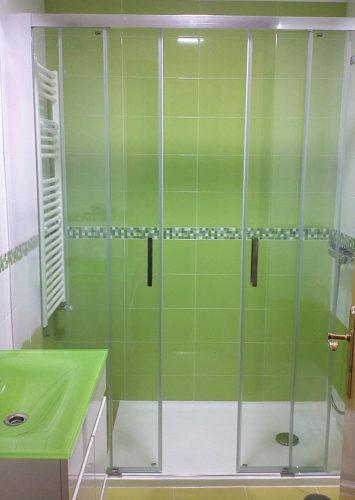 Mampara de ducha de 2 puertas correderas y 2 fijos GME Aktual Spazio photo review