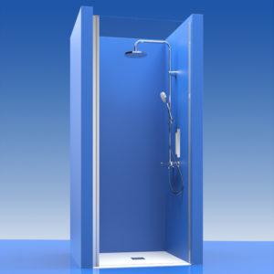 Puertas de ducha de cristal batientes