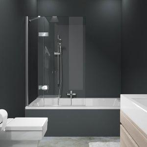 Mamparas de bañera 1 hoja con segmento fijo