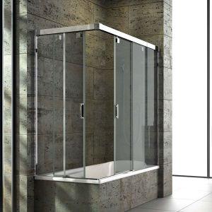 Mamparas de bañera de puertas correderas por el vértice