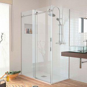 Mamparas de ducha de 1 puerta corredera y 1 fijo