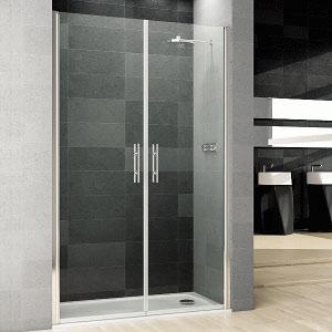 Mamparas de ducha de 2 puertas batientes