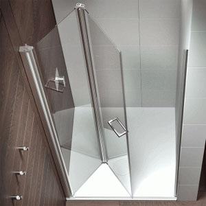 Mamparas de ducha de puertas plegables