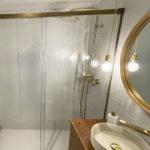 mamparas ducha color bronce