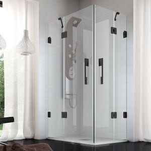 Mamparas de ducha en esquina con puertas batientes o plegables